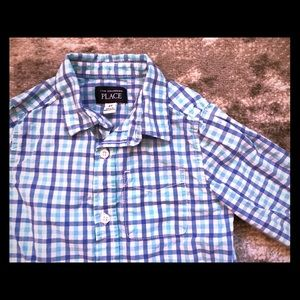 Boys 4T blue and white Children's Place shirt
